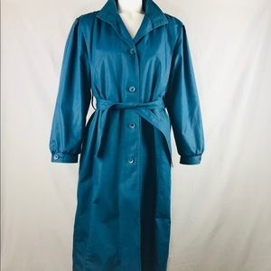 Vintage London Fig Main Coat Trench 8P blue